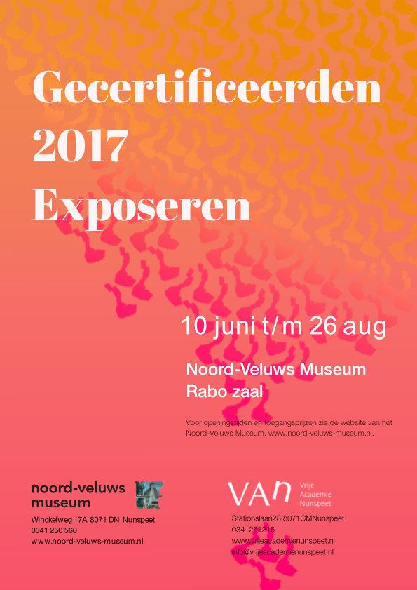 Gecertificeerden expositie poster 2017