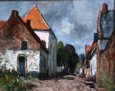 Graaf Hendriksteeg in Elburg met de Sjoel