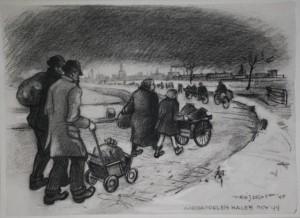 F.Drost Aardappelen halen nov 1944