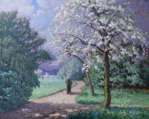 Alphonse Asselbergs_Printemps Brabant_ Lente in Brabant_ca 1880-1885_Olieverf 80x100 cm (Coll Barat-Venker)