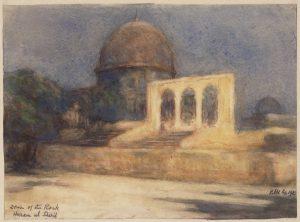 Douglas Hamilton_Gezicht op de 'Dome of the Rock' op de Tempelberg in Jeruzalem, 1925