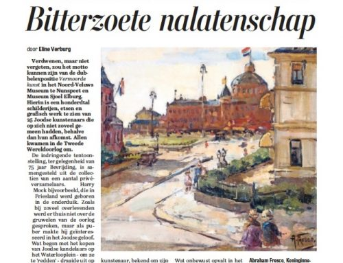 Recensie Telegraaf over 'Vermoorde kunst'